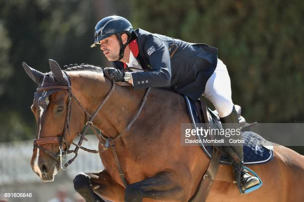 Mathieu of France riding ILENA S during the Piazza di Siena Bank Intesa Sanpaolo in the Villa Borghese on May 27 2017 in Rome Italy