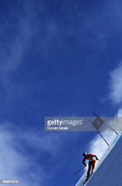Mathieu Razanakolona of Madagascar competes in the Final of the Mens Alpine Skiing Giant Slalom competition on Day 10 of the 2006 Turin Winter...