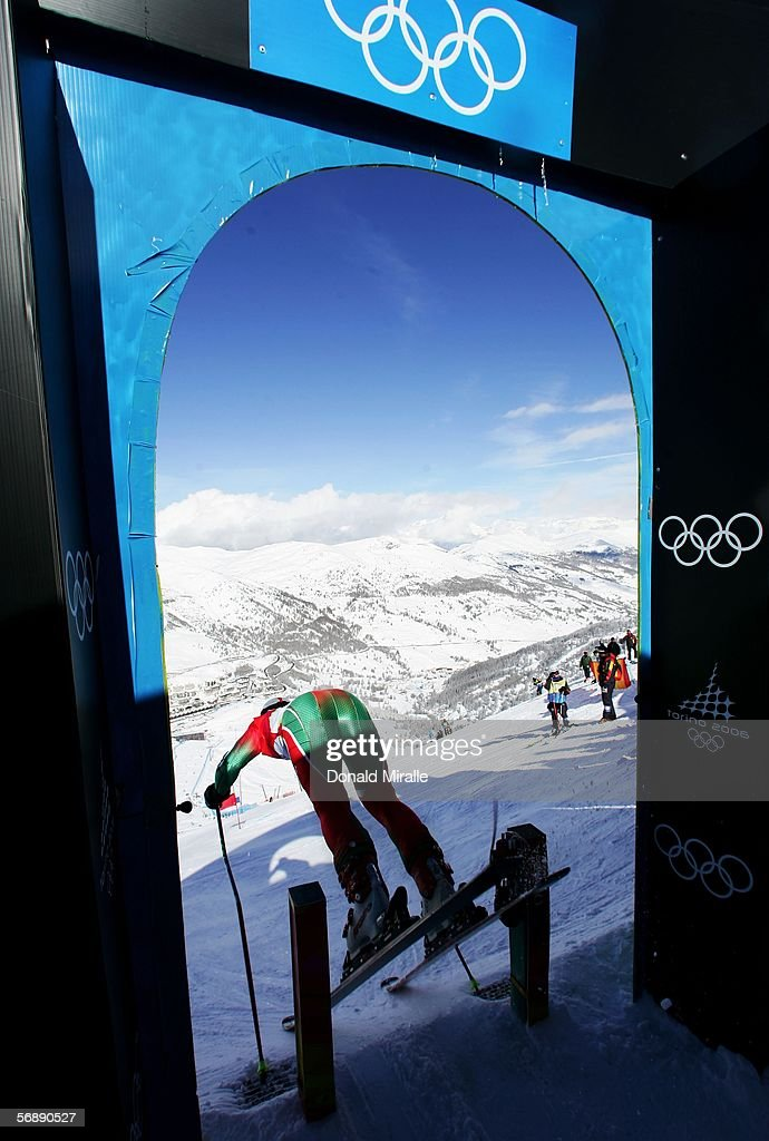 Mathieu Razanakolona of Madagascar competes in the First Run of the Mens Alpine Skiing Giant Slalom competition on Day 10 of the 2006 Turin Winter...