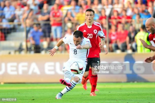Mathieu VALBUENA / Arlind AJETI Albanie / France Match Amical Tirana Photo Dave Winter / Icon Sport