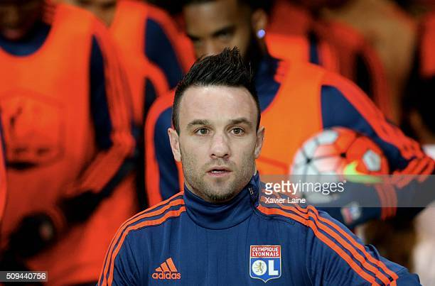 Mathieu Valbuena during the French Cup between Paris SaintGermain and Lyon at Parc Des Princes on february 10 2016 in Paris France
