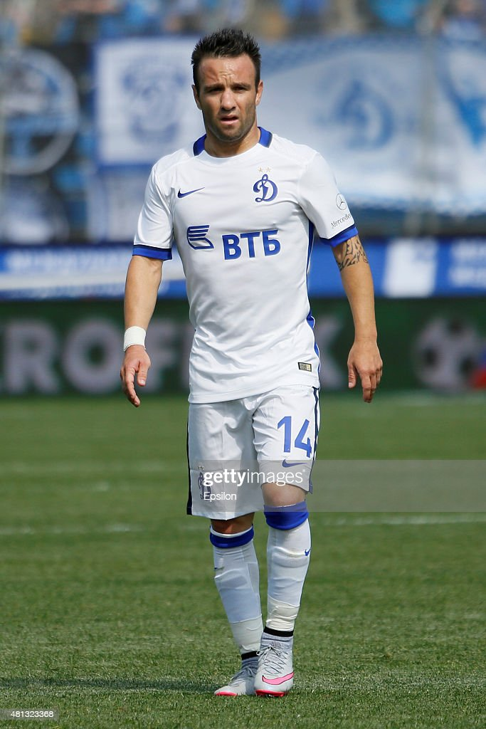 Mathieu Valbuena of FC Dinamo Moscow during the Russian Football League match between FC Zenit St. Petersburg and FC Dinamo Moscow at the Petrovsky stadium on July 19, 2015 in St. Petersburg, Russia.