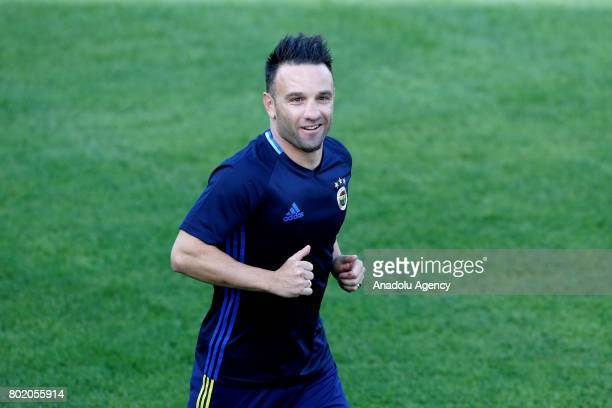 Mathieu Valbuena of Fenerbahce attends the club's training session ahead the Turkish Super Toto Super Lig new season on June 27 in Istanbul Turkey