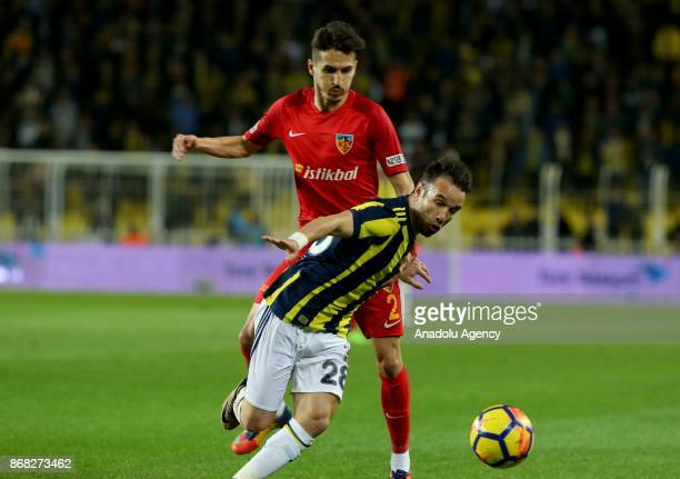 Mathieu Valbuena of Fenerbahce in action during a Turkish Super Lig match between Fenerbahce and Kayserispor at Ulker Stadium in Istanbul Turkey on...