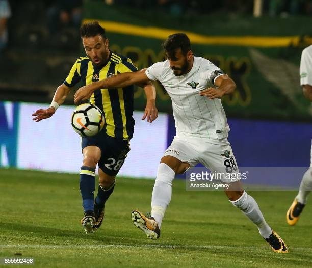 Mathieu Valbuena of Fenerbahce in action during the Turkish Super Lig match between Teleset Mobilya Akhisarspor and Fenerbahce at Manisa 19 Mayis...