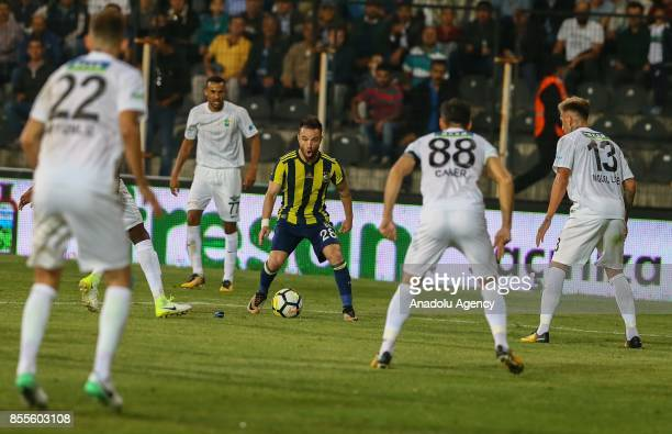 Mathieu Valbuena of Fenerbahce in action during the Turkish Super Lig soccer match between Teleset Mobilya Akhisarspor and Fenerbahce at Manisa 19...