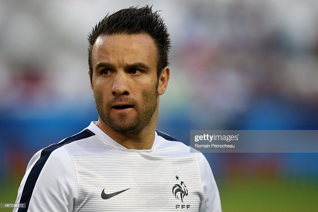 <a gi-track='captionPersonalityLinkClicked' href=/galleries/search?phrase=Mathieu+Valbuena&family=editorial&specificpeople=778610 ng-click='$event.stopPropagation()'>Mathieu Valbuena</a> of France before International Friendly between France and Serbia on September 7, 2015 in Bordeaux, France.