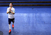 Mathieu Valbuena of France celebrates the win in the tunnel after the 2014 FIFA World Cup Brazil Round of 16 match between France and Nigeria at...