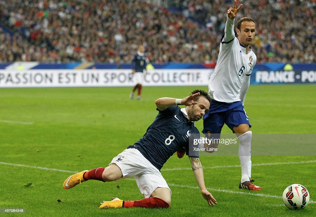 Mathieu Valbuena of France during the International Friendly Soccer match between France and Portugal at Stade de France on october 11, 2014 in Paris, France.