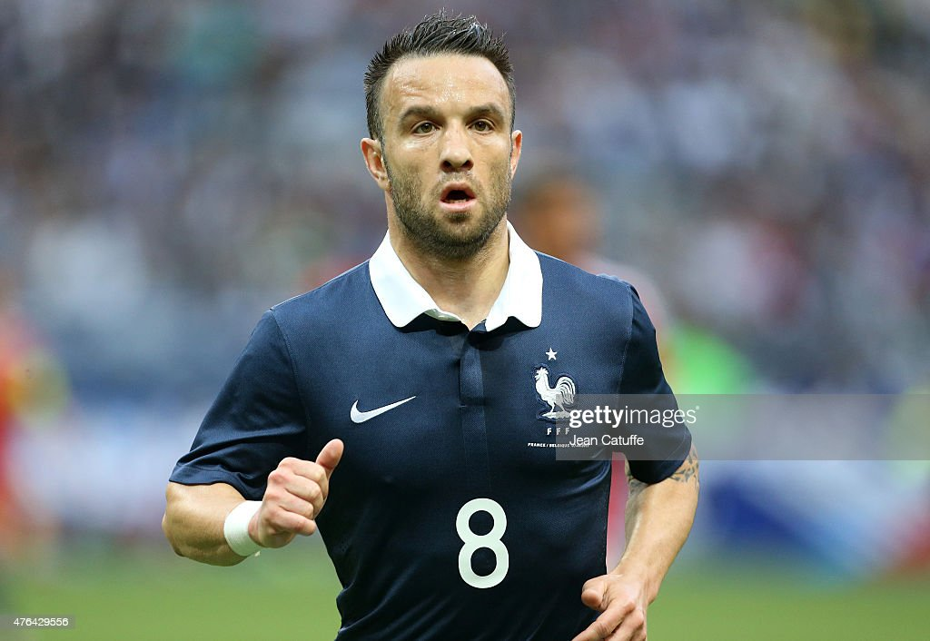 <a gi-track='captionPersonalityLinkClicked' href=/galleries/search?phrase=Mathieu+Valbuena&family=editorial&specificpeople=778610 ng-click='$event.stopPropagation()'>Mathieu Valbuena</a> of France in action during the international friendly match between France and Belgium at Stade de France on June 7, 2015 in Saint-Denis nearby Paris, France.