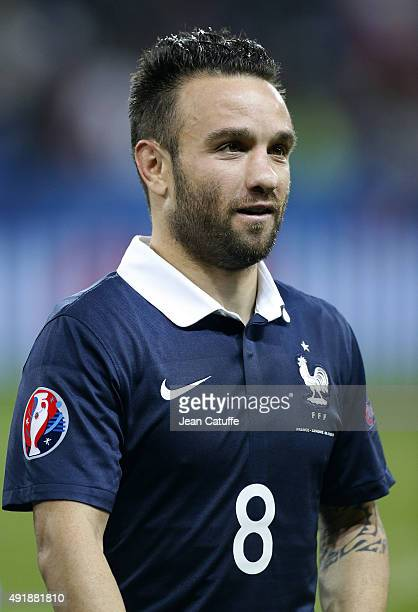 Mathieu Valbuena of France leaves the field at the end of the international friendly match between France and Armenia at Allianz Riviera stadium on...