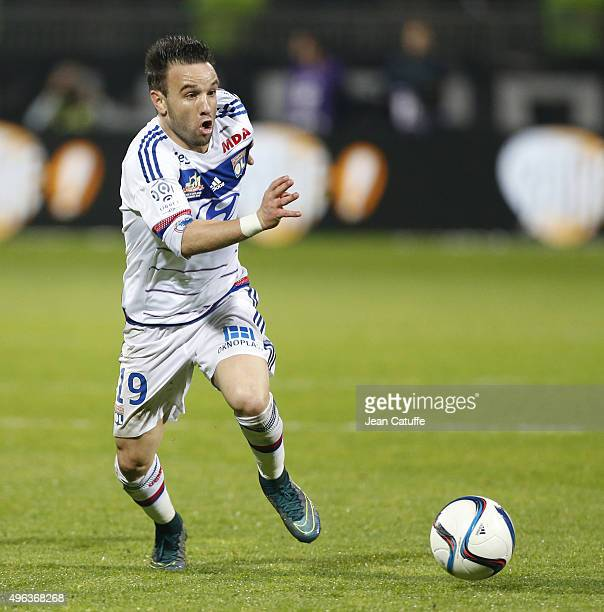 Mathieu Valbuena of Lyon in action during the French Ligue 1 match between Olympique Lyonnais and AS SaintEtienne at Stade de Gerland on November 8...