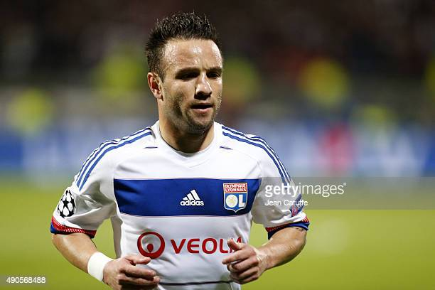 Mathieu Valbuena of Lyon looks on during the UEFA Champions league match between Olympique Lyonnais and Valencia CF at Stade de Gerland on September...