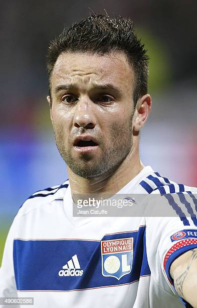Mathieu Valbuena of Lyon looks on during the UEFA Champions league match between Olympic Lyonnais and Valencia CF at Stade de Gerland on September 29...
