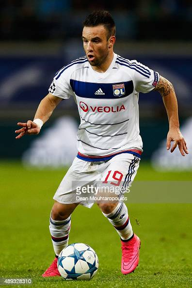 Mathieu Valbuena of Lyon runs with the ball during the UEFA Champions League Group H match between KAA Gent and Olympique Lyonnais held at Ghelamco...