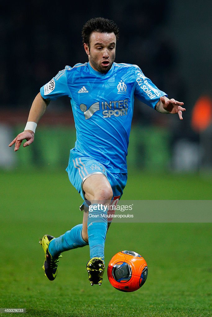 <a gi-track='captionPersonalityLinkClicked' href=/galleries/search?phrase=Mathieu+Valbuena&family=editorial&specificpeople=778610 ng-click='$event.stopPropagation()'>Mathieu Valbuena</a> of Marseille in action during the Ligue 1 match between LOSC Lille and Olympique de Marseille held at Stade Pierre-Mauroy on December 3, 2013 in Lille, France.