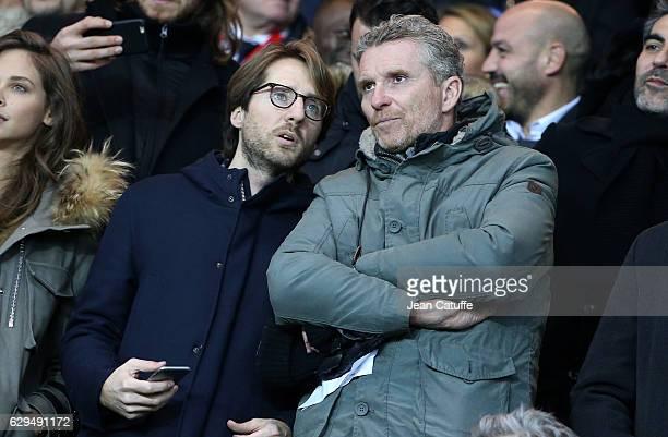 Mathieu Vergne Denis Brogniart attend the French Ligue 1 match between Paris Saint Germain and OGC Nice at Parc des Princes stadium on December 11...