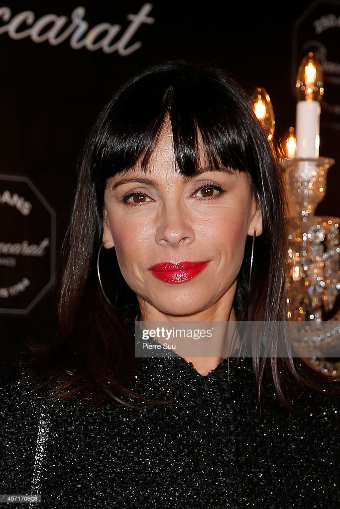Mathilda May attends Baccarat, La Legende Du Cristal' - Cocktail Party At The Petit Palais on October 13, 2014 in Paris, France.