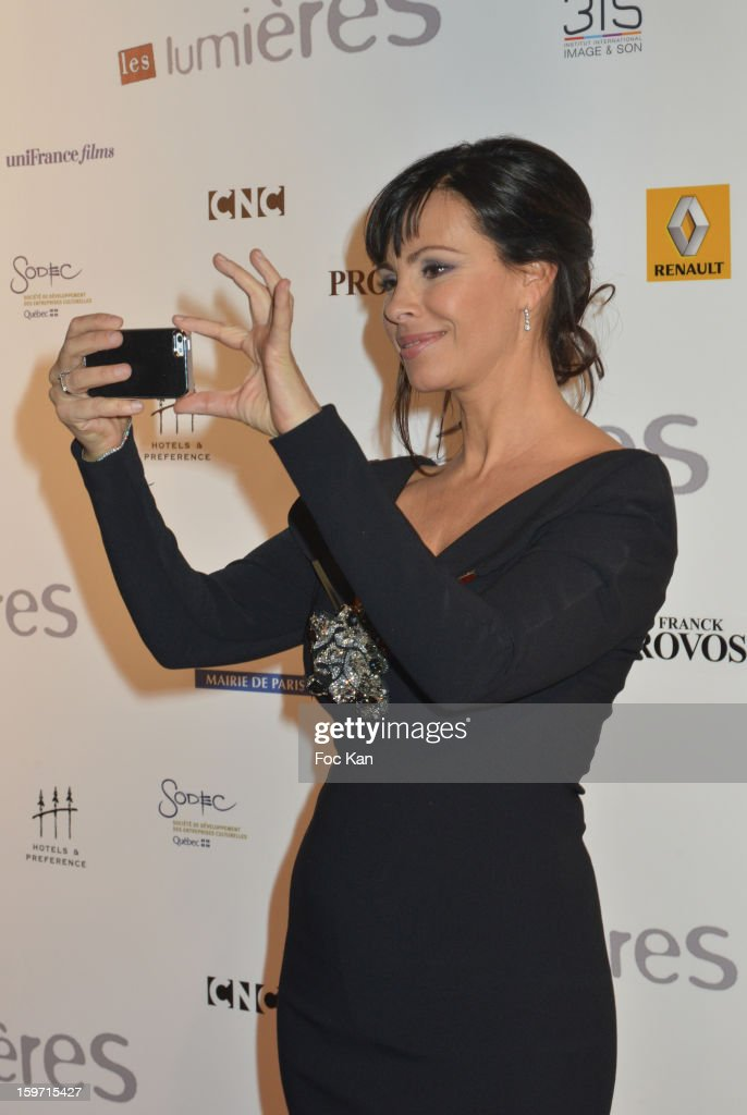 Mathilda May attends 'Les Lumieres 2013' Cinema Awards 18th Ceremony at La Gaite Lyrique on January 18, 2013 in Paris, France.