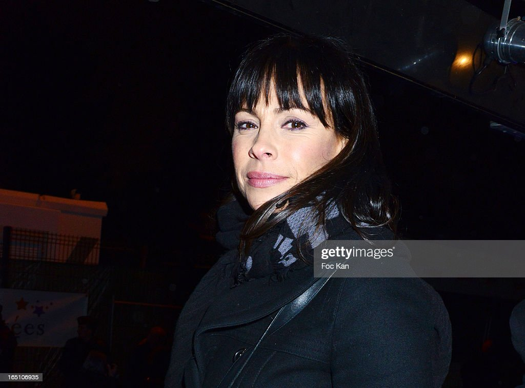 Mathilda May attends 'Les Toiles Enchantees' Children Care Association Auction Dinner During The 50th Foire du Trone at Pelouse de Reuilly on March 29, 2013 in Paris, France.