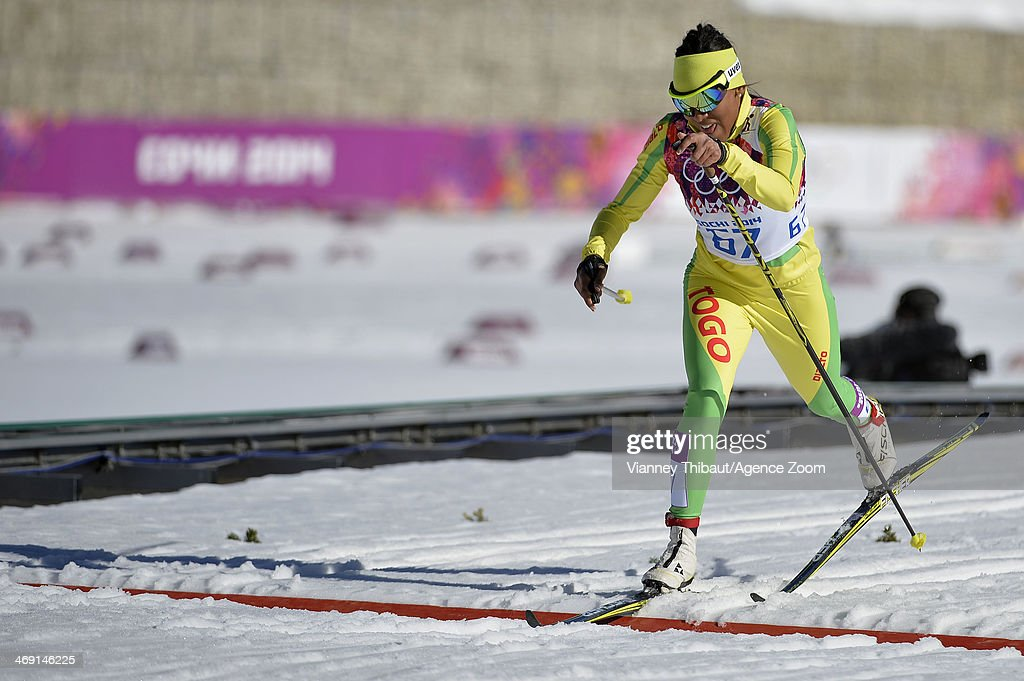 Mathilde Amivi Petit Jean of Togo competes during the Cross-Country Women's 10km Classic at the Laura Cross-country Ski & Biathlon Center on February 13, 2014 in Sochi, Russia.