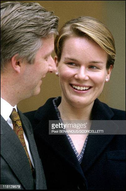 Mathilde and Philippe of Belgium's royal visit in Paris first day in Paris France on March 26 2001