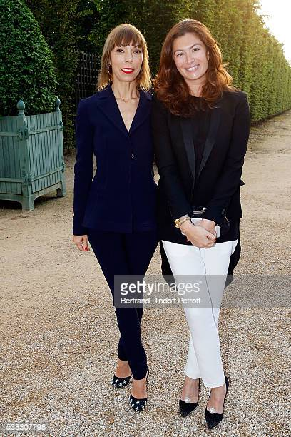 Mathilde Favier and Cordelia de Castellane attend the inauguration of Olafur Eliasson Exhibition at Chateau de Versailles on June 5 2016 in...