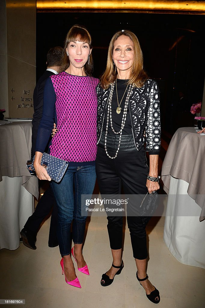 Mathilde Meyer and <a gi-track='captionPersonalityLinkClicked' href=/galleries/search?phrase=Marisa+Berenson&family=editorial&specificpeople=206844 ng-click='$event.stopPropagation()'>Marisa Berenson</a> attend the 'J'Aime La Mode' Cocktail Event Hosted by Chef Thierry Marx at Hotel Mandarin Oriental on September 23, 2013 in Paris, France.