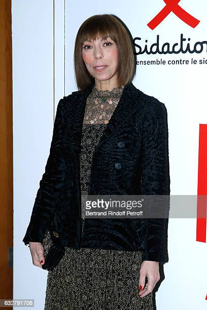 Mathilde Favier attends the Sidaction Gala Dinner 2017 Haute Couture Spring Summer 2017 show as part of Paris Fashion Week on January 26 2017 in...