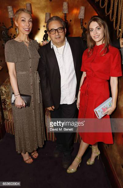 Mathilde Favier Jean Touitou and guest attend a cocktail party celebrating the launch of Vanessa Seward's first London store at Loulou's on March 15...