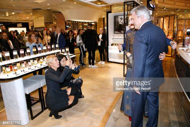 Mathilde Favier Natalia Vodianova and CEO of Dior Sidney Toledano attend Christian Dior celebrates 70 Years of Creation at the Galeries Lafayette...