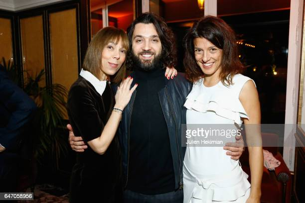 Mathilde FavierMeyer Benjamin Cercio and Camille Miceli attend the Mastermind Magazine launch dinner as part of Paris Fashion Week Womenswear...