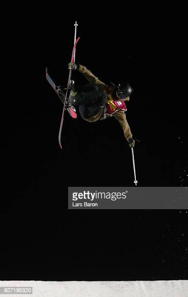Mathilde Gremaud of Switzerland competes during the Ski Big Air Final of the ARAG Big Air Freestyle Festival on December 2 2016 in Moenchengladbach...
