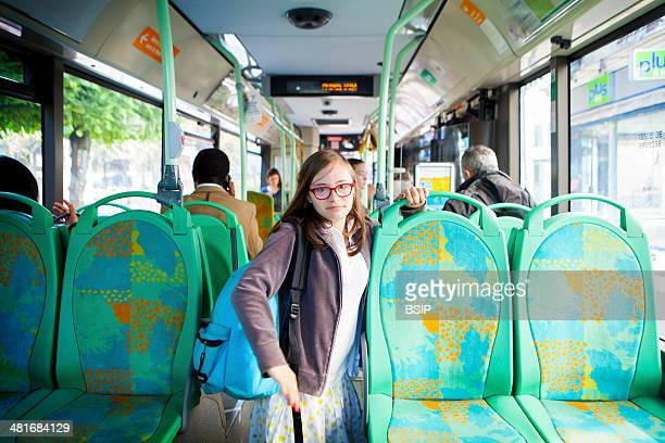 Mathilde is 15 and suffers from Down's Syndrome She takes the bus by herself to go to school