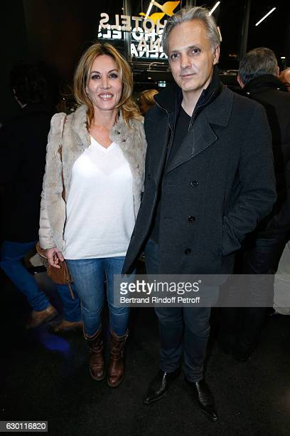 Mathilde Seigner and her companion Mathieu Petit attend Michael Gregorio performs for his 10 years of Career at AccorHotels Arena on December 16 2016...