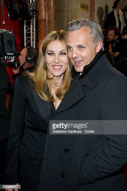 Mathilde Seigner and Mathieu Petit attend the 37th Cesar Film Awards at Theatre du Chatelet in Paris