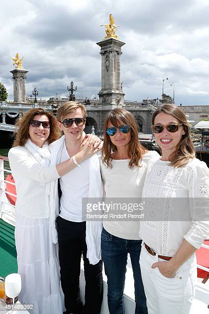 Mathilde Vial Alex Lutz Axelle Laffont and Anne Marivin attend the 'Brunch Blanc' hosted by Barriere Group Held on Yacht 'Excellence' on June 29 2014...
