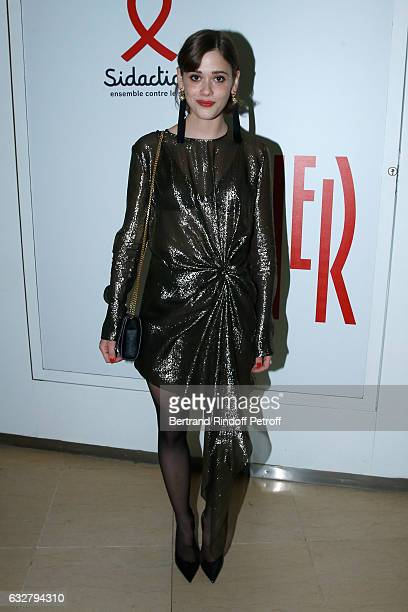 Mathilde Warnier attends the Sidaction Gala Dinner 2017 Haute Couture Spring Summer 2017 show as part of Paris Fashion Week on January 26 2017 in...