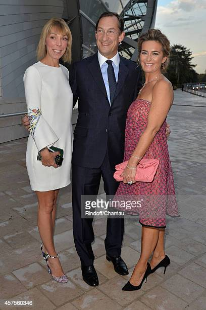 MathildeFavier Nicolas Bazire and Fabienne Bazire attend the Foundation Louis Vuitton Opening at Foundation Louis Vuitton on October 20 2014 in...