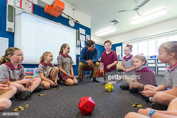Maths Game Being Played By Children in the Classroom