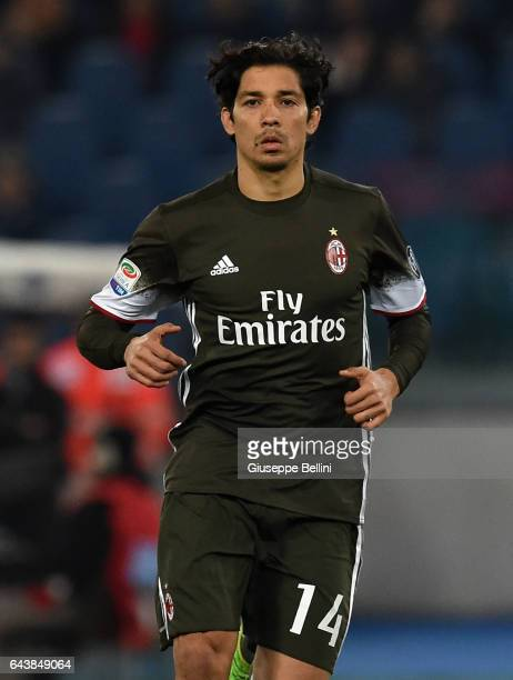Mati Fernandez of AC Milan in action during the Serie A match between SS Lazio and AC Milan at Stadio Olimpico on February 13 2017 in Rome Italy