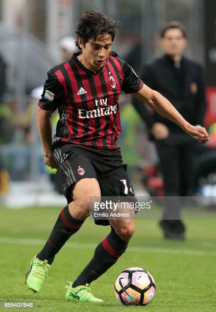 Mati Fernandez of AC Milan in action during the Serie A match between AC Milan and Genoa CFC at Stadio Giuseppe Meazza on March 18 2017 in Milan Italy