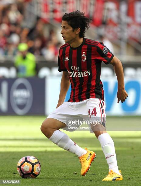Mati Fernandez of AC Milan in action during the Serie A match between AC Milan and Bologna FC at Stadio Giuseppe Meazza on May 21 2017 in Milan Italy