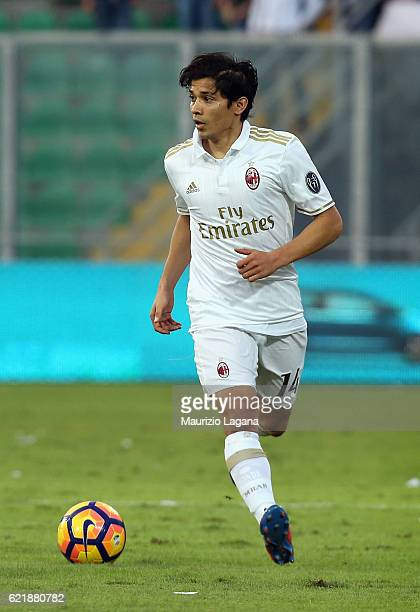 Mati Fernandez of Milan during the Serie A match between US Citta di Palermo and AC Milan at Stadio Renzo Barbera on November 6 2016 in Palermo Italy