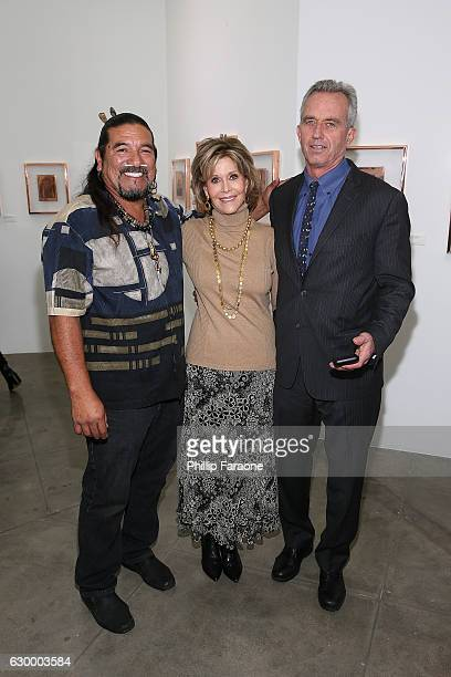 Mati Waiya Jane Fonda and Robert F Kennedy Jr attend Depart Foundation hosts Standing Rock Sioux Tribal Chairman Dave Archambault II for the first...