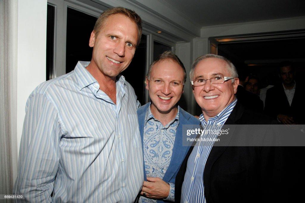 Mati Wiederpass, Dennis Thompson and John Reid attend LIFE BALL NYC VIP Dinner at Ian Reisner Home on September 16, 2009 in New York City.
