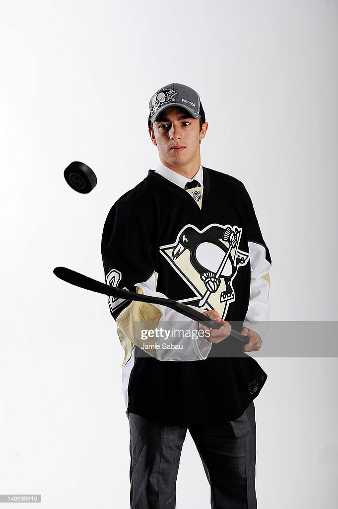 Matia Marcantuoni, 92nd overall pick by the Pittsburgh Penguins, poses for a portrait during Day Two of the 2012 NHL Entry Draft at Consol Energy Center on June 23, 2012 in Pittsburgh, Pennsylvania.