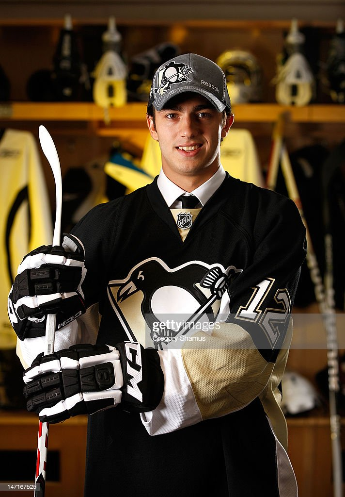 Matia Marcantuoni, 92nd overall pick by the Pittsburgh Penguins, poses for a portrait during the 2012 NHL Entry Draft at Consol Energy Center on June 23, 2012 in Pittsburgh, Pennsylvania.