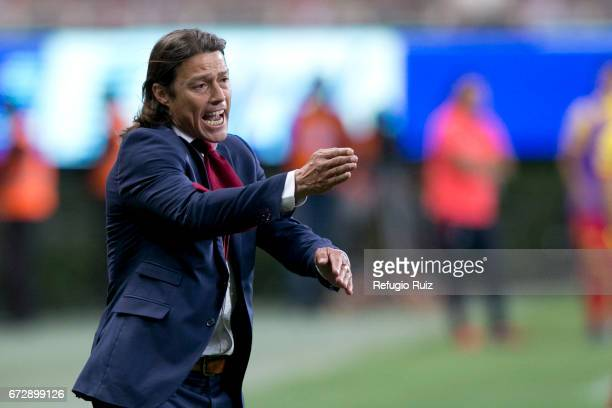 Matias Almeyda coach of Chivas gives instructions to his players during the Final match between Chivas and Morelia as part of the Copa MX Clausura...