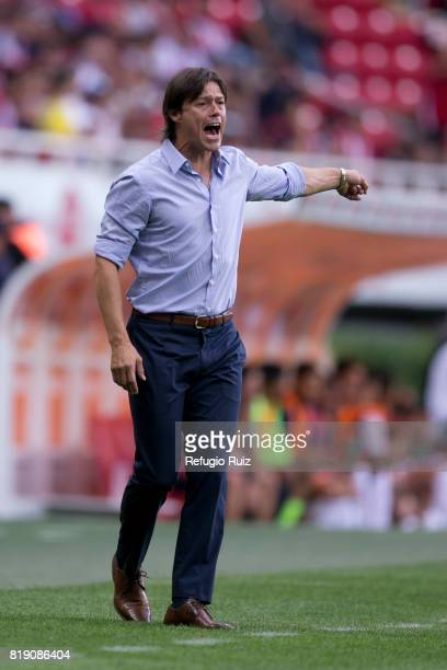 Matias Almeyda coach of Chivas gives instructions to his players during the friendly match between Chivas and Porto at Chivas Stadium on July 19 2017...